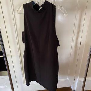 Open side black mini dress